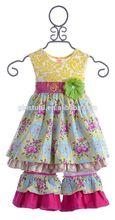 Impressão de alta moda vestido matching leggings vestidos para meninas 11 anos