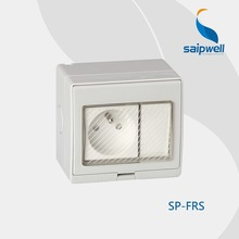 Waterproof one-position switch with one French style socket SP-FRS IP66