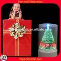 mondo più venduto prodotti regalo aziendale led rotazione incandescente cornice ornamenti per gli alberi di natale