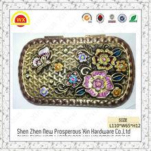 Wholesale decorative souvenir antique mini folding comb with mirror