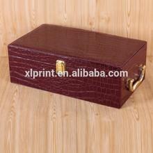 PU Leather Wine Box,Single Bottle Leather Wine Carrier