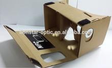 DIY google cardboard virtual reality vr 3d mobile theater glass