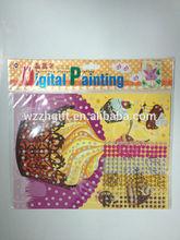 The Cake Design Sparkling Colored Painting Diamonds Sticker