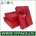 Fabriqué en chine guangzhou usine logo personnalisé chers boîte de papier cadeau/boîte en carton avec du ruban pour l'emballage