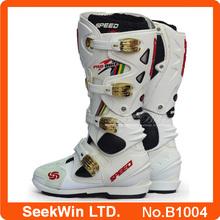 Winter Popular Waterproof Racing Motocross Boots For Men Moto Bike Leather Bota Motorcycle Shoes