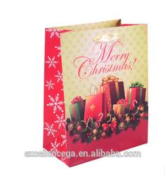 advertising paper bag, Christmas promotional gift bag 2014