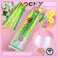 Beautiful flower plastic promotional gift pen for children
