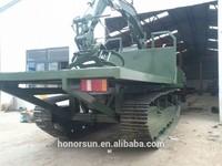 track crawler transporter dumper for rough terrain forest long transporting
