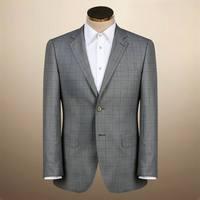 Winter fashion white coat pant men suit for business