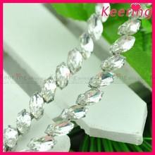 wedding bridal accessory shining large wholesale crystal trim glass rhinestone chain WRC-331