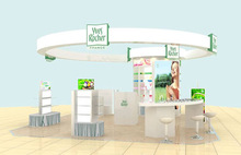 MDF shop design for cosmetics with shop fittings, cosmetic store fixtures