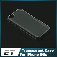 Top Quality DIY Raw Crude Material PC Crystal Transparent Clear Hard Case For IPhone 5 5s