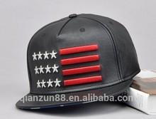 Fancy Snapback Baseball Caps Men Leather Cap