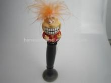 factory promotional vinyl wag head ball pen