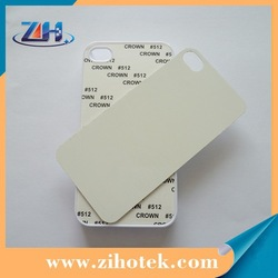 2d sublimation case for iPhone 5/5s with metal insets,blank sublimation case for iphone 5/5s