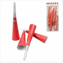NEW kids Party Favors Noise Maker Party Accessories Red polka dot party horns