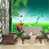 custom nature bamboo wallpaper for house decoration