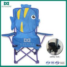 New cartoon design travel folding kids football chair