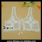 Hot sell white crochet cotton front neck designs for kurtis