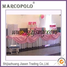 Wholesale fancy table skirt for sales/handmade tutu skirt designs for weddings/cheap materials in table skirting