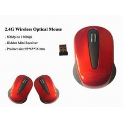 Red 2.4ghz wireless mouse