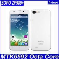 ZOPO ZP980+ MTK6592 Octa Core Phone 5 Inch ZOPO C2 Platinum Upgrade ZP980 Plus 2GB RAM Smart Mobile Android Phone 3G White