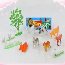 çiftlik oyuncak oyun seti, plastik çiftlik hayvan oyuncak orman serisi pvc plastik