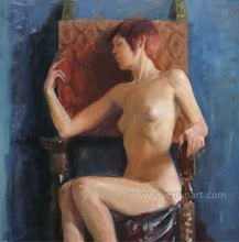 hot sex sleeping nude girl painting on canvas for home decoration