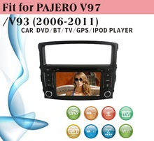 auto radio gps car dvd 1 din fit for Mitsubishi Pajero V97 V93 2006 - 2011 with radio bluetooth gps tv