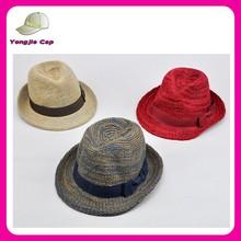 Men Women Cotton Fedora Trilby Gangster Jazz Hat