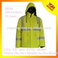 amarillo de moda funcional chaqueta con bolsillos