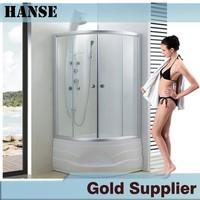 HS-SR817 bathtub size shower enclosures/ bathroom shower enclosure with seat/ quarter round shower