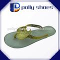 moda senhora calçados ouro alça pvc plástico geléia de flip flop