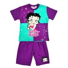 Fahionเด็กชุดเสื้อผ้าเด็กแบapprelbettyสาวแขนสั้นชุดt- shirt+pantsฤดูร้อนเด็กนอนหลับสวมขายส่ง