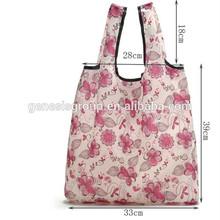 Fashion shivering folding nylon tote bag for supermarket