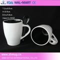 oz 12 esmaltado de color café taza de cerámica con la cuchara