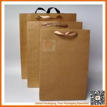 elegant brown paper grocery bag