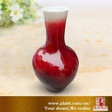 Fina esmaltado de cerámica de color rojo cementerio jarrones