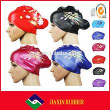 2014 hot selling womens waterproof swim caps