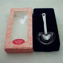 JJJ046 USA silver stainless steel wedding favors heart measuring spoons
