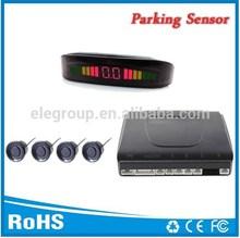 4 rear sensors Led parking sensor system Car reverse backup radar with Beeper alarm
