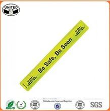 Road Safety Glow In The Dark Bands, Customized Slap Bracelets