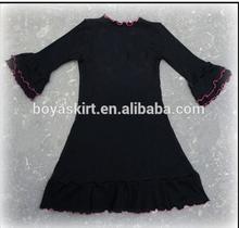 Cute Infant Girls Wholesale Knitted Cotton Maxi Dress Children long sleeve Ruffles Holiday Dress