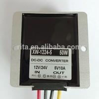 waterproof DC DC buck convertor,DC12V/dc24v input,DC5V/10A/50W output;alu case