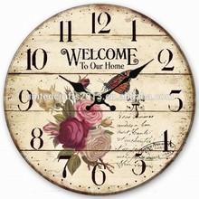 Rosewood wall clock , wooden painting clock, wooden wall clock