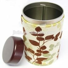 dongguan factory produce metal tea tin can / round tin can