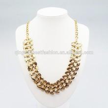 Hot fashion 18 k gold leaf Layer Necklace