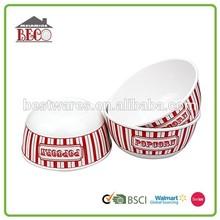 round melamine plastic popcorn container, popcorn bowl, plastic popcorn bucket