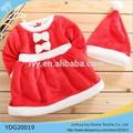 De navidad de temporada bebé ropa Gilrs vestido de conjunto de los Chrismas ropa