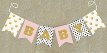 Custom Gold Glitter Baby Shower Banner Wedding favor party decoration